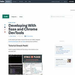 Developing With Sass and Chrome DevTools