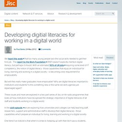 Developing digitial literacies for working in a digital world