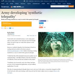 Army developing 'synthetic telepathy' - Technology & science - Science - DiscoveryNews.com