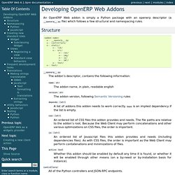 Developing OpenERP Web Addons — OpenERP Web 6.1.0pre documentation
