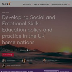 Mélodie - Developing Social and Emotional Skills: Education policy and practice in the UK home nations