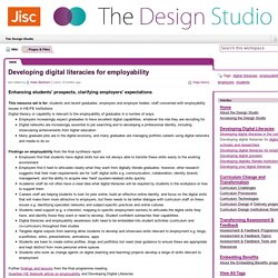Developing digital literacies for employability