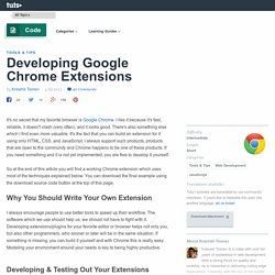Developing Google Chrome Extensions