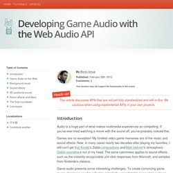 Developing Game Audio with the Web Audio API
