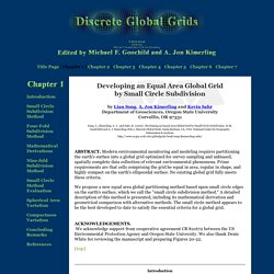 Developing an Equal Area Global Grid by Small Circle Subdivision