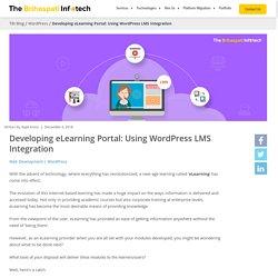 Developing eLearning Portal: Using WordPress LMS Integration