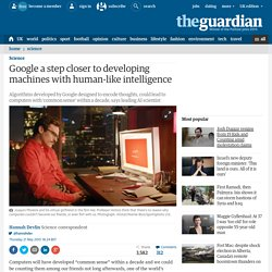 Google a step closer to developing machines with human-like intelligence