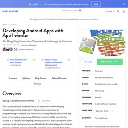 Free Online Course: Developing Android Apps with App Inventor from Coursera