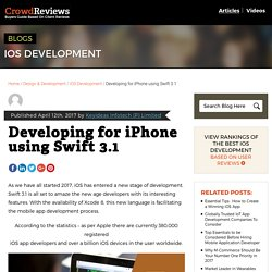 Developing for iPhone using Swift 3.1 - CrowdReviews.com Blog