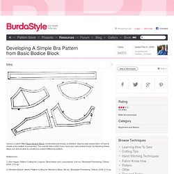 Developing A Simple Bra Pattern from Basic Bodice Block – Learning Sewing