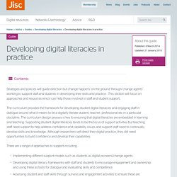 Developing digital literacies in practice