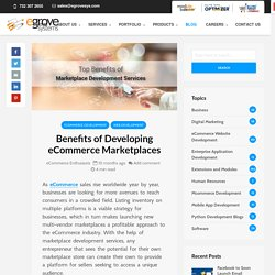 Benefits of Developing a Multi-Vendor Marketplace