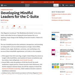 Developing Mindful Leaders for the C-Suite