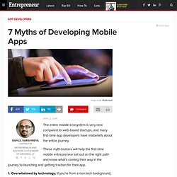 7 Myths of Developing Mobile Apps