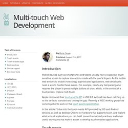 HTML5 Rocks - Developing for Multi-Touch Web Browsers