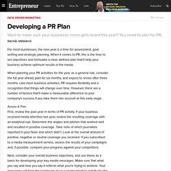 Developing a PR Plan
