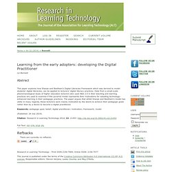 Learning from the early adopters: developing the Digital Practitioner