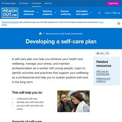 Resources for mental health professionals