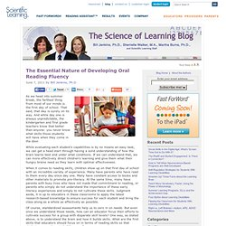 Developing Oral Reading Fluency