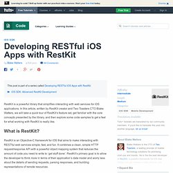 Developing RESTful iOS Apps with RestKit