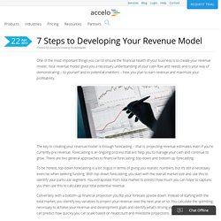 7 Steps to Developing Your Revenue Model