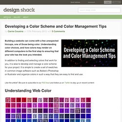 Developing a Color Scheme and Color Management Tips