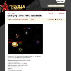 Developing a simple HTML5 space shooter