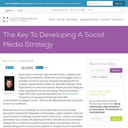 The Key To Developing A Social Media Strategy