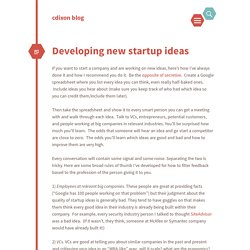 chris dixon's blog / Developing new startup ideas
