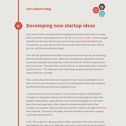 Developing new startup ideas cdixon.org – chris dixon's blog