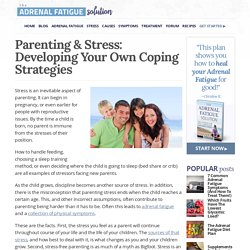 Parenting & Stress: Developing Your Own Coping Strategies