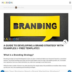 A Guide to Developing a Brand Strategy with Examples [+ Free Template!]