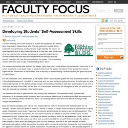 Developing Students' Self-Assessment Skills