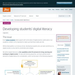 Developing students' digital literacy