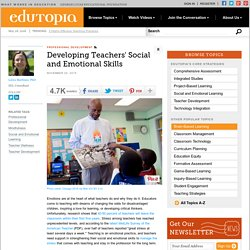 Developing Teachers' Social and Emotional Skills