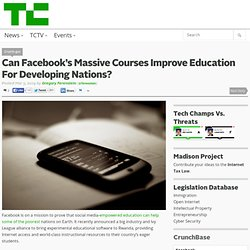Can Facebook's Massive Courses Improve Education For Developing Nations?