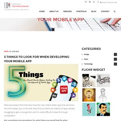 5 Things to Consider when Developing a Mobile App