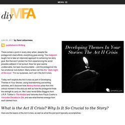 Developing Themes In Your Stories: Part 10 –The Act II Crisis - DIY MFA