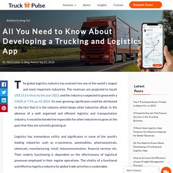 All You Need to Know About Developing a Trucking and Logistics App - Truck Pulse