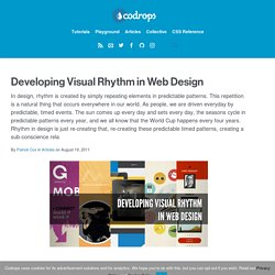 Developing Visual Rhythm in Web Design