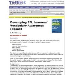 Developing EFL Learners' Vocabulary Awareness