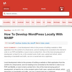 Developing WordPress Locally With MAMP - Smashing WordPress