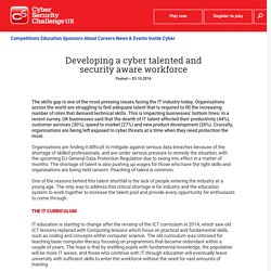 Developing a cyber talented and security aware workforce - Cyber Security Challenge UK