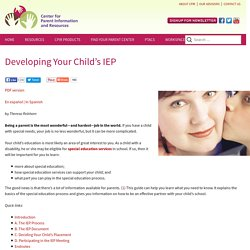 Developing Your Child's IEP