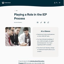 Developing Your Child's IEP: The Parent's Role