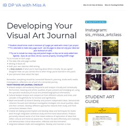 Developing Your Visual Art Journal – IB DP VA with Miss A