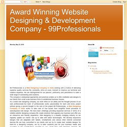 Award Winning Website Designing & Development Company - 99Professionals