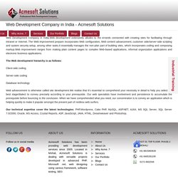 Web Development Company in India - Acmesoft Solutions