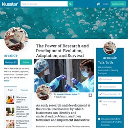 The Power of Research and Development-Evolution, Adaptation, and Survival