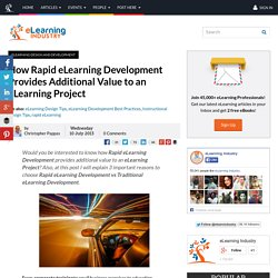 How Rapid eLearning Development Provides Additional Value to an eLearning Project